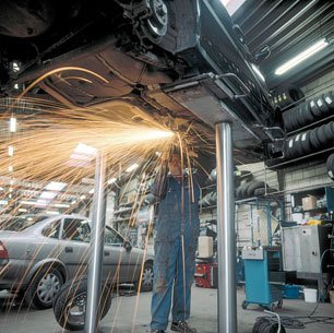 Welding repairs to pass your MOT